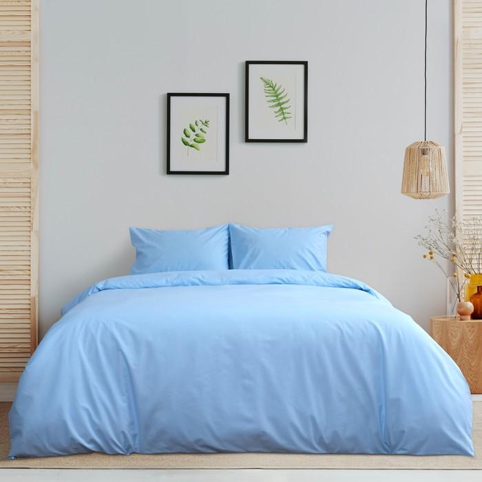 Постельное бельё «Этель» 2 сп. Арома Поплин 180×210 см, 200×220 см, 50×70 см - 2 шт., Жасмин, 125 г/м², 100% хл