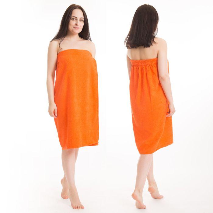 Килт(юбка) женский махровый, 80х150+-2, цвет оранжевый