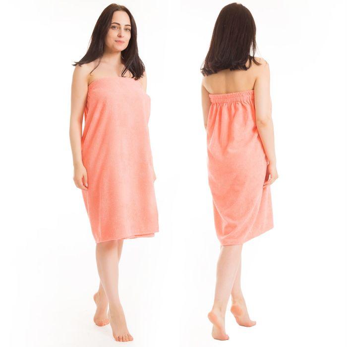 Килт(юбка) женский махровый, 80х150+-2, цвет персиковый