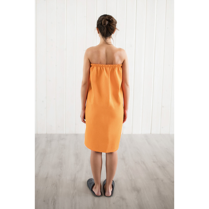 Парео женское, цвет песочный, вафельное полотно 242 г/м2