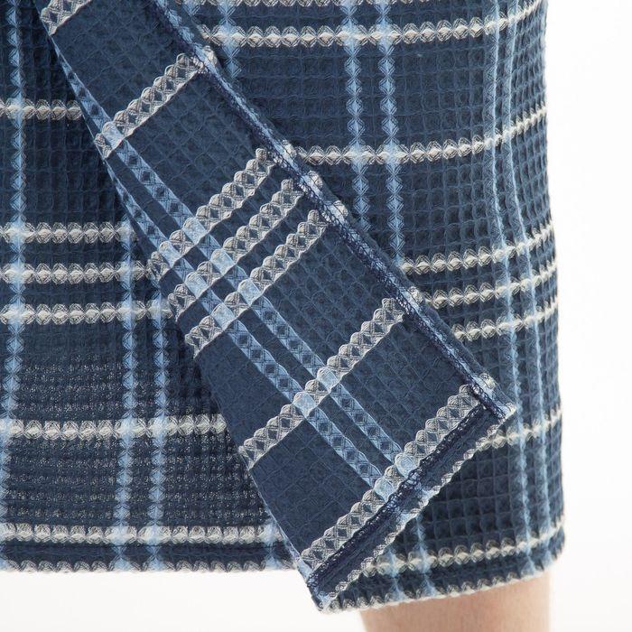 Килт(юбка) вафельный клетка, цвет синий, 70х150