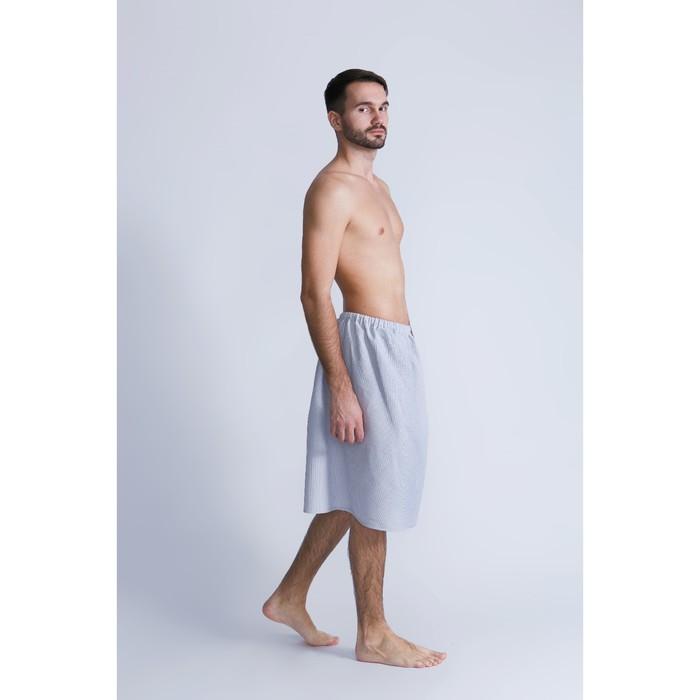 Килт для сауны муж (65х150), цв.серый, ваф.полотно 160г/м, хл100%