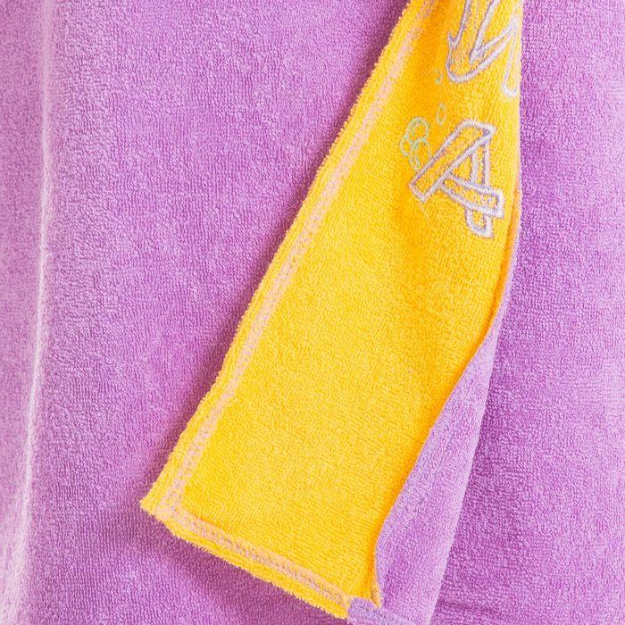 Килт(юбка) женский махровый, с вышивкой, 80х160 см, цвет сиреневый