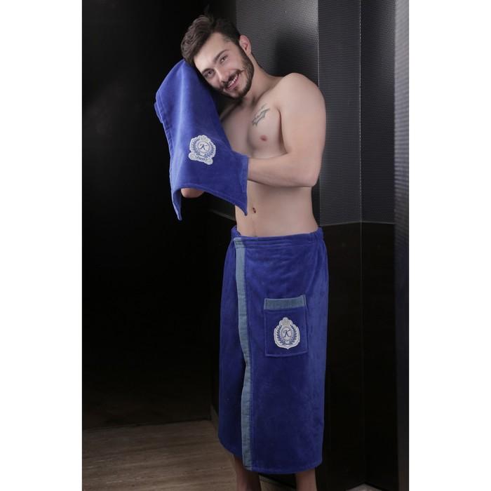 Набор мужской для сауны Koral (килт, полотенце), велюр, парламент