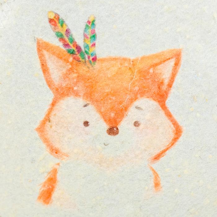 """Детский банный набор: шапка и мочалка """"Моей лисичке"""""""