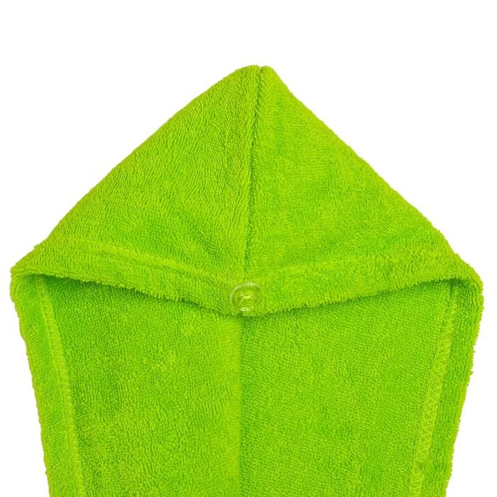 Набор для сауны «Экономь и Я»: парео 68 × 150 см + чалма; махра, цвет салатовый, 340 г/м², хлопок 100 %