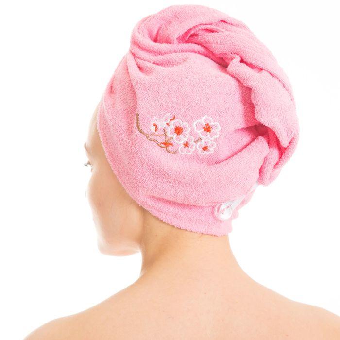 Набор д/сауны махр. жен. (Килт(юбка)(80х150+-2)+ чалма), цвет розовый
