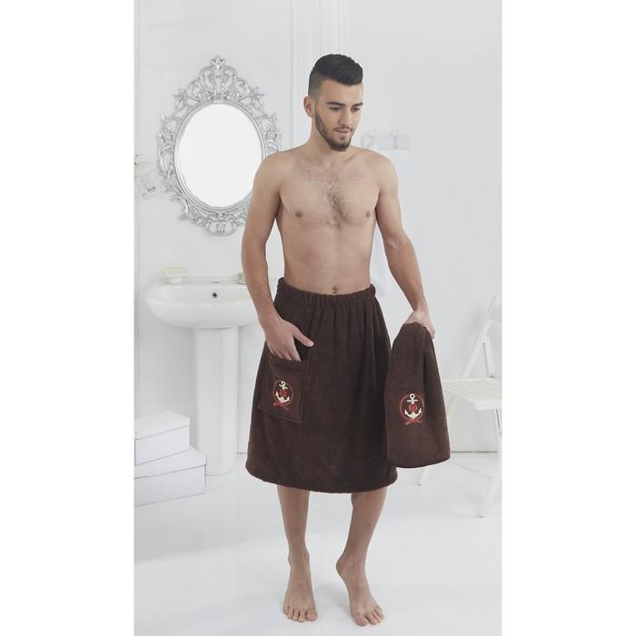 Набор для сауны мужской Pamir, цвет коричневый