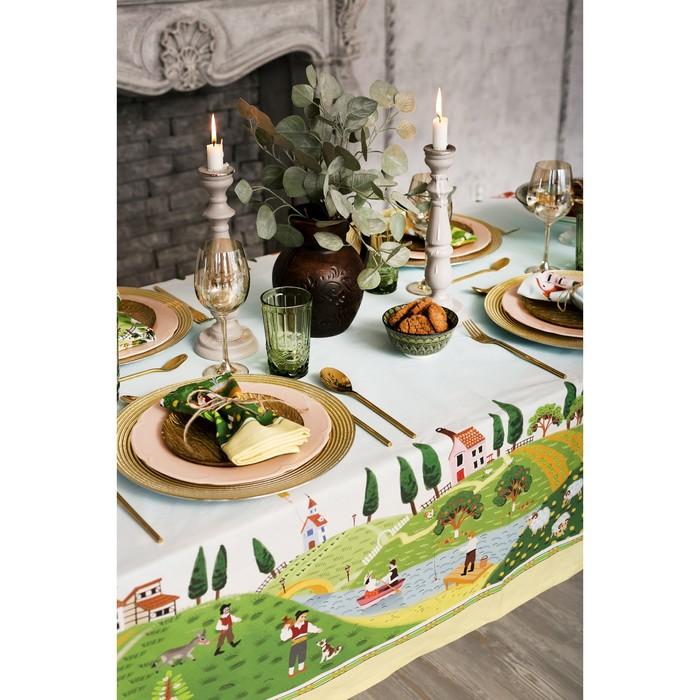 """Набор столовый """"Этель"""" Тоскана, скатерть 220х150 см, салф. 40х40 см-12шт, 100% хл"""