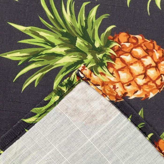 Скатерть Этель «Ананасы» 150×180 см, репс, пл. 130 г/м², 100% хлопок