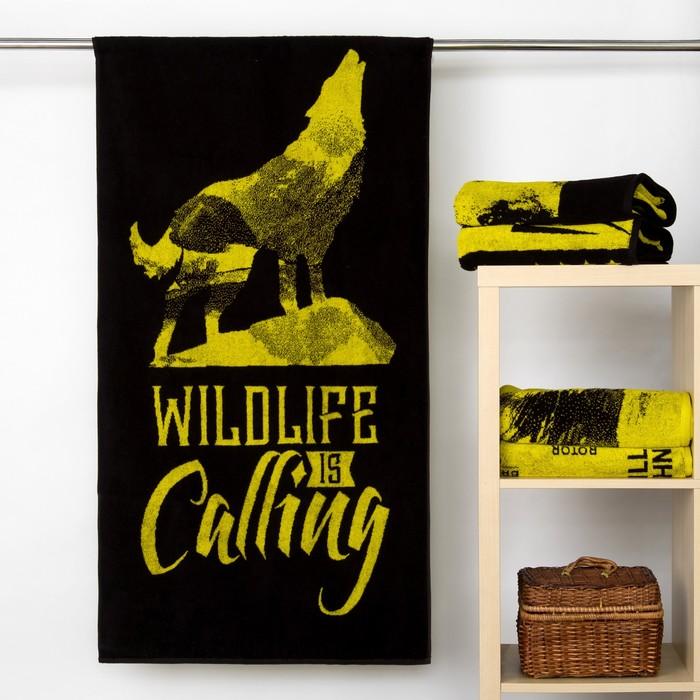 """Полотенце махровое """"Этель"""" Wildlife is Calling 70х130 см, 100% хл, 420 гр/м2"""