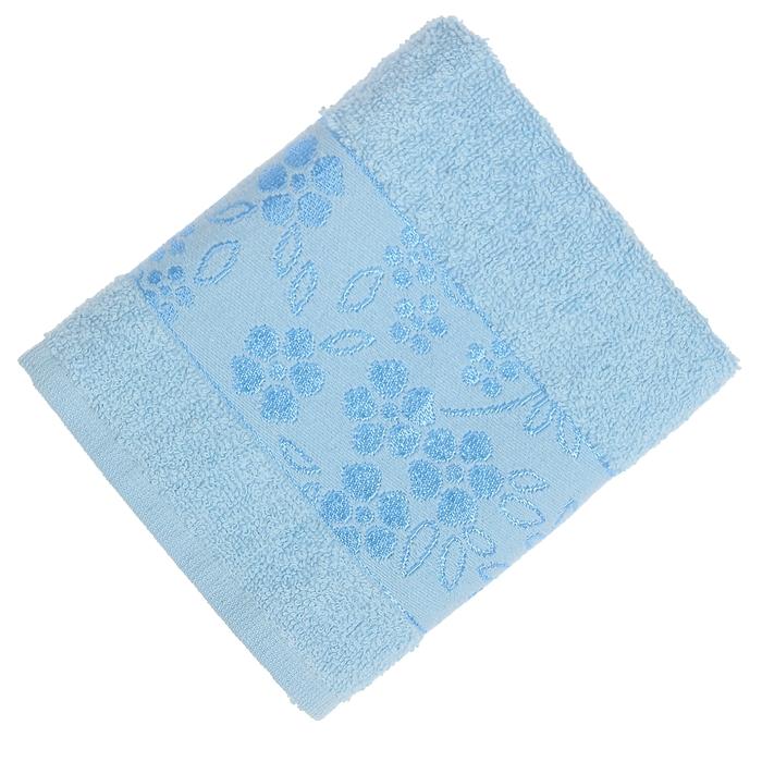 Полотенце махровое банное Fiesta Elara, размер 70х130 см, цвет голубой, 400 г/м2