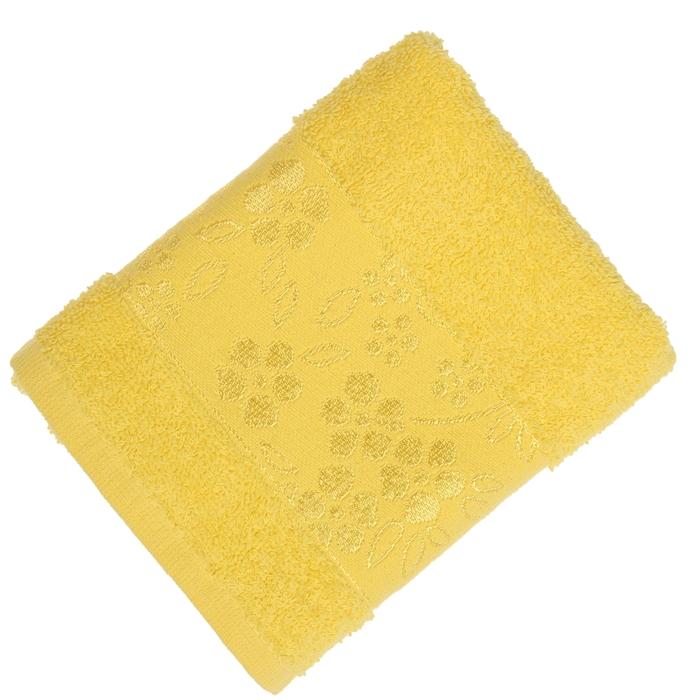 Полотенце махровое банное Fiesta Elara, размер 70х130 см, цвет жёлтый, 400 г/м2
