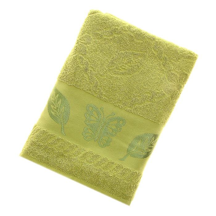 Полотенце махровое Fiesta Cotonn Butterfly 70х130 см, цвет зеленый, хлопок 500г/м2
