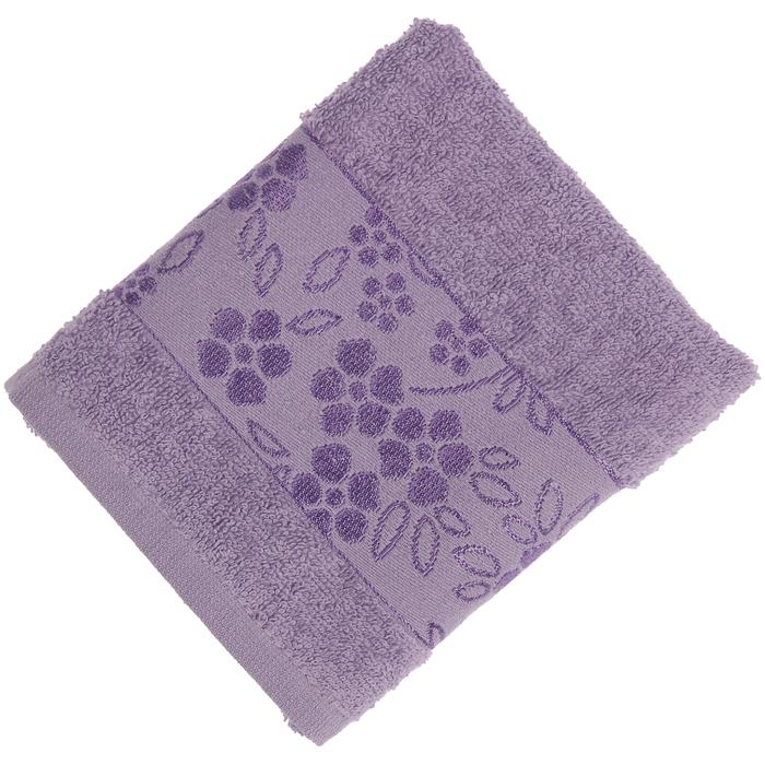 Полотенце махровое банное Fiesta Elara, размер 70х130 см, цвет сирень, 400 г/м2