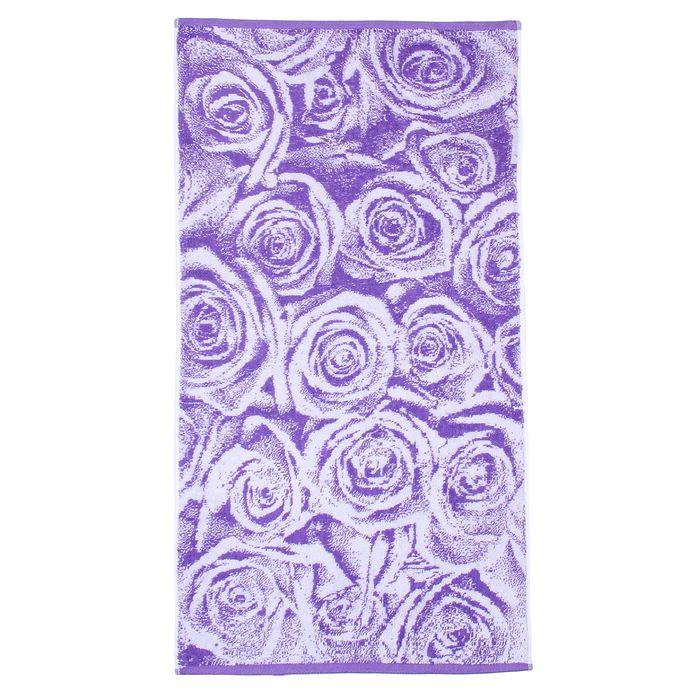 Полотенце махровое банное Lilac Roses, размер 70х130см, 460 г/м2, цвет фиолетовый