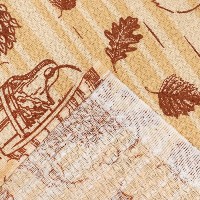 """Полотенце для бани Collorista """"Банька"""" 80х 150 см,  хлопок вафельное полотно"""