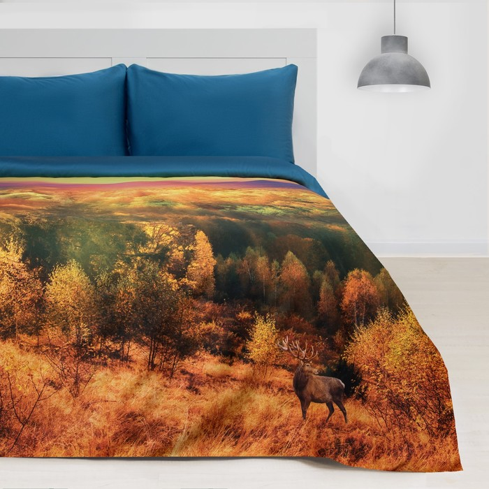 """Постельное бельё """"Этель"""" «Осенний лес», 2-сп., 175 × 215, 220 × 240, 50 × 70 см, 2 шт., мако-сатин"""