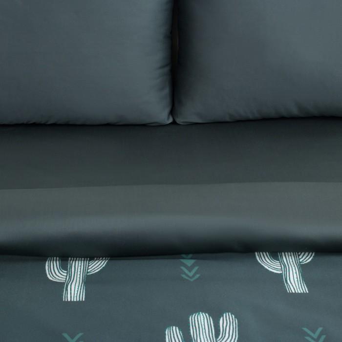"""Постельное бельё """"Этель"""" евро Кактусы 200х217 см, 240х260 см, 50х70 см - 2 шт, мако-сатин"""
