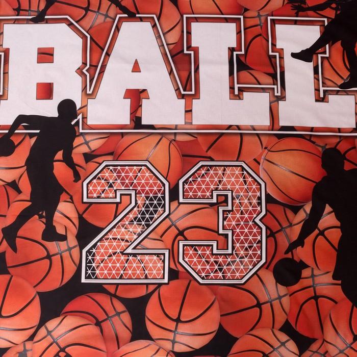 Постельное бельё Этель «Баскетбол», 2-сп., 175 × 215 см, 200 × 220 см, 70 × 70 см (2 шт.), хлопок 100 %