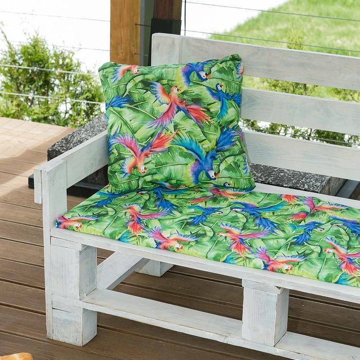 Декоративная подушка уличная «Этель» Попугай, 45×45 см, репс с пропиткой ВМГО, 100% хлопок
