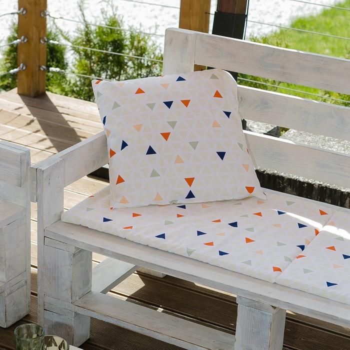 Декоративная подушка уличная «Этель» Треугольники, 45×45 см, репс с пропиткой ВМГО, 100% хлопок