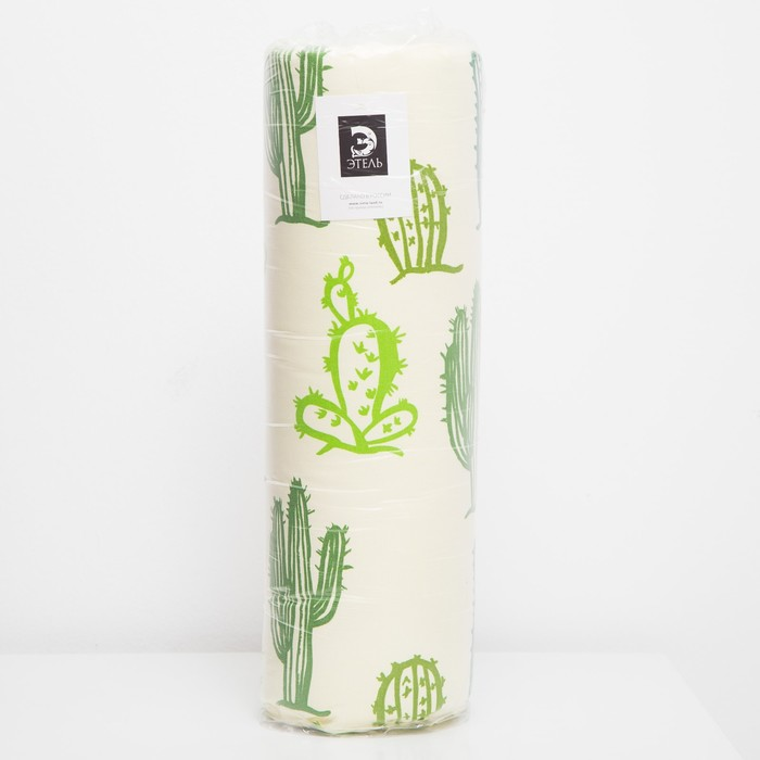 Матрас на шезлонг «Этель» Кактусы, 55×190+2 см, репс с пропиткой ВМГО, 100% хлопок