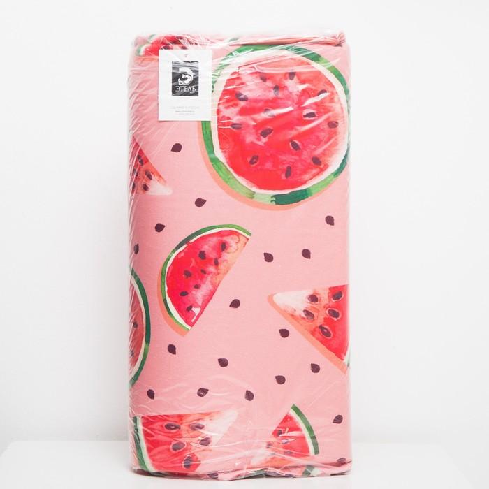 Матрас на шезлонг Этель «Арбузы», 55 × 190 см + 2 см, репс с пропиткой ВМГО, 100%-ный хлопок
