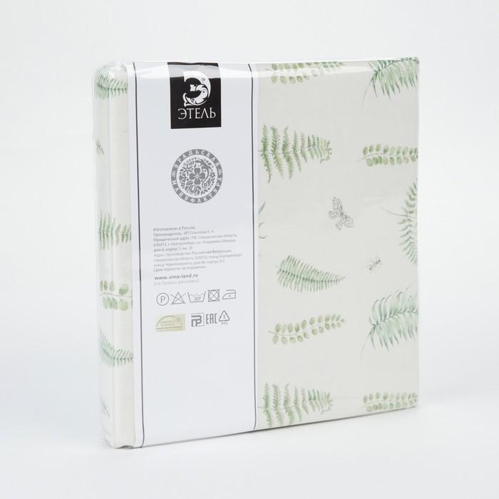 Портьера для террасы «Этель» Листья 200×210 см, репс с пропиткой ВМГО, 100% хлопок