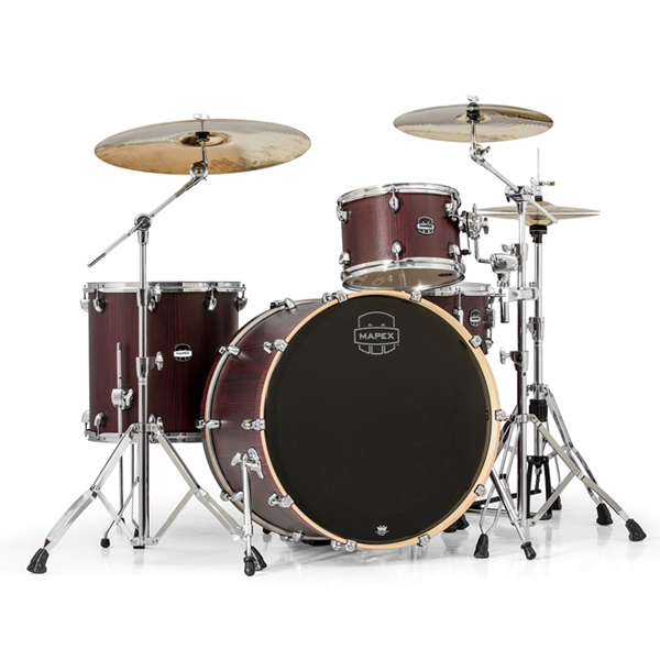 Акустическая ударная установка Mapex Mars Series 4 Piece Rock 24 Shell Pack Bloodwood Drum Set