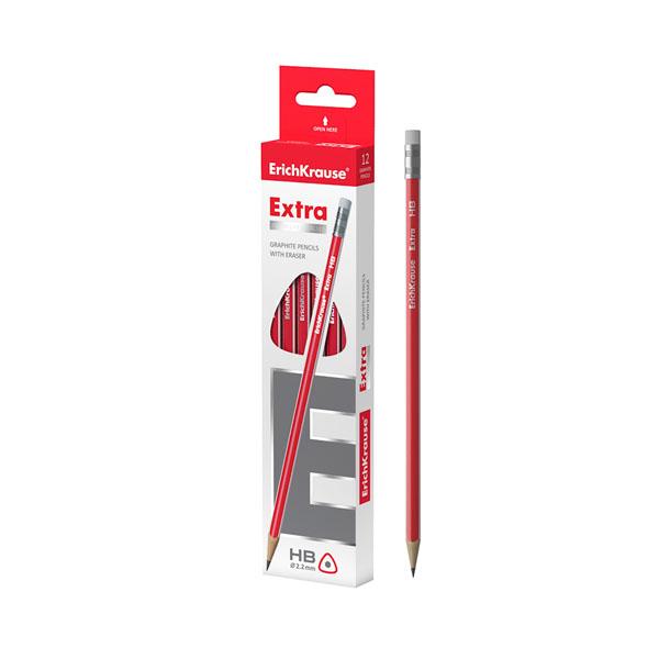 Чернографитный трехгранный карандаш, ErichKrause® Extra HB