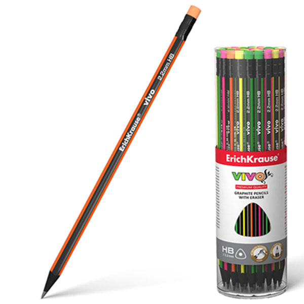 Чернографитный шестигранный карандаш, ErichKrause® VIVO HB