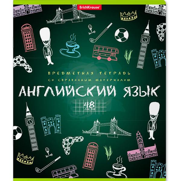 Тетрадь общая ученическая, ErichKrause® 43594, К доске!, Английский язык