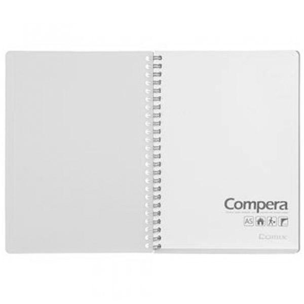 Блокнот A6 Comix CPA6801 80 л. серый