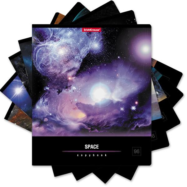 Тетрадь общая  ErichKrause® 35494, Вселенная, 96 листов, клетка