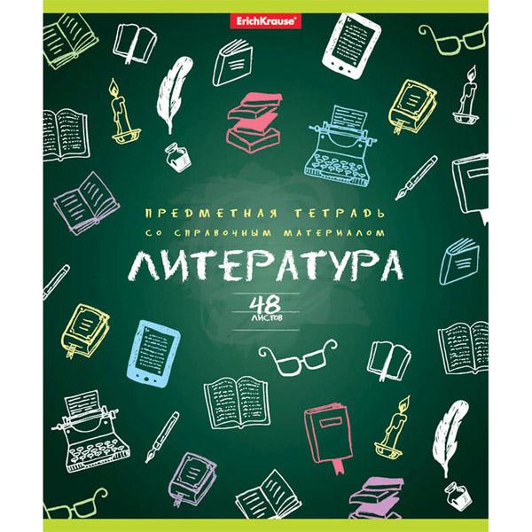 Тетрадь общая ученическая, ErichKrause® 43585, К доске!, Литература