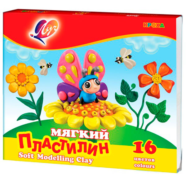 Пластилин восковой Луч Кроха 16 цв