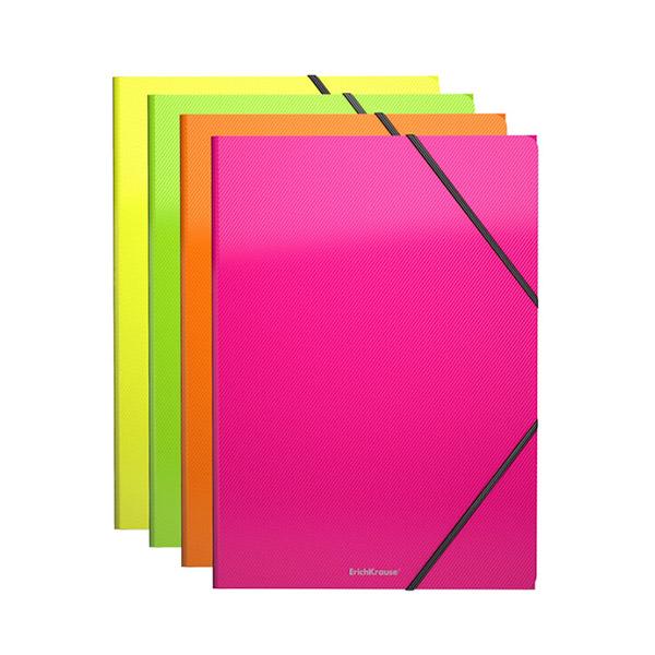 Папка на резинках пластиковая ErichKrause® 43052 Glance Neon