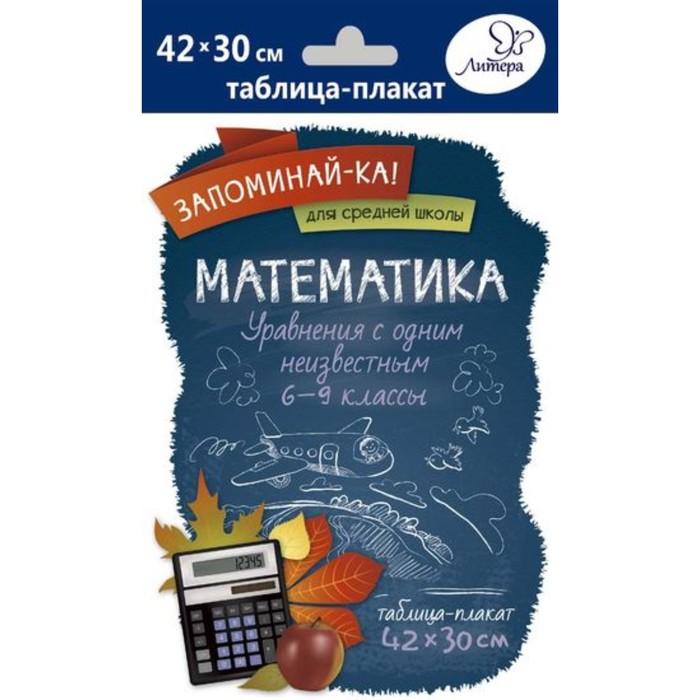 Математика. Уравнения с одним неизвестным