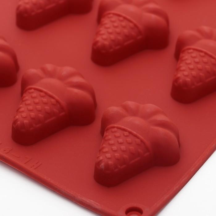 """Форма для льда и шоколада """"Мороженое"""", 12 ячеек"""