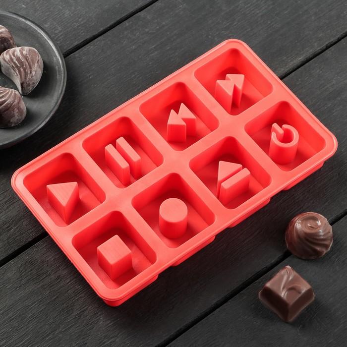 """Форма для льда и шоколада """"Плей"""", 8 ячеек"""