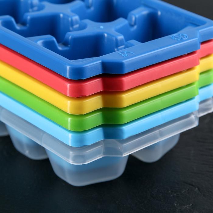 Форма для льда 26×9,5×3,5 см, 12 ячеек, цвет МИКС