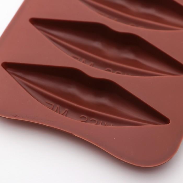 "Форма для льда и шоколада 21,5х10,4х1,3 см ""Губки"", 6 ячеек"
