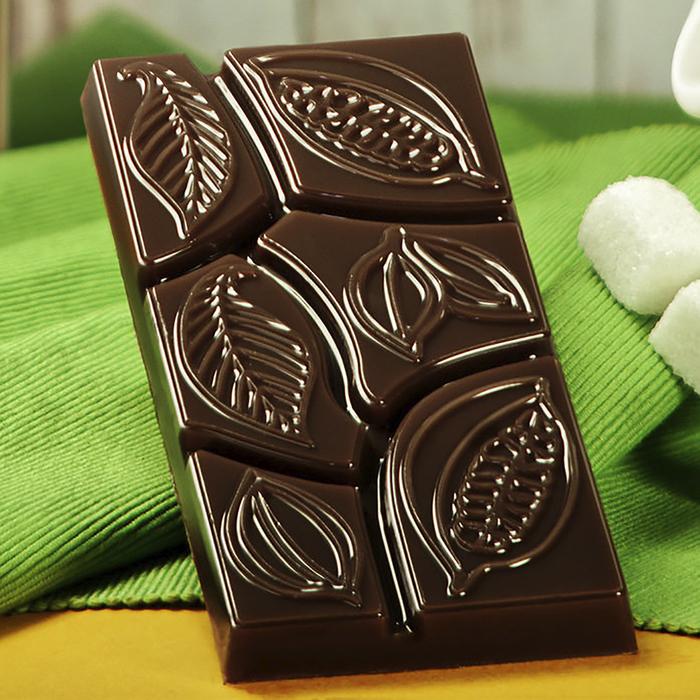 "Форма для шоколада 7×15×1 см ""Какао дольки"""