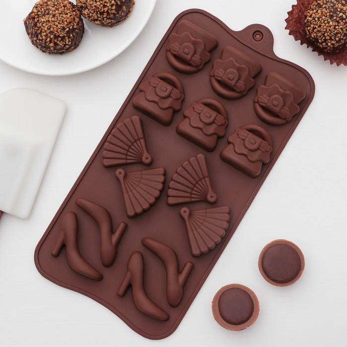 """Форма для льда и шоколада """"Дамский набор"""", 14 ячеек"""