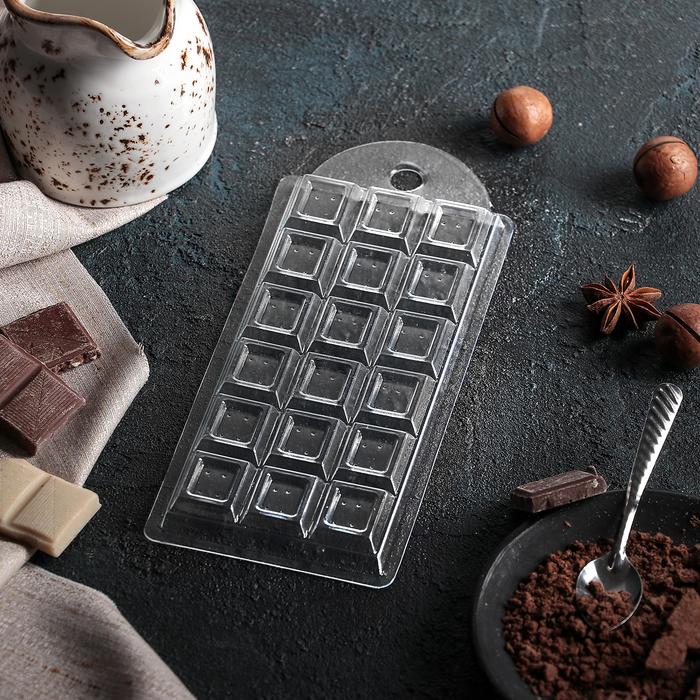 """Форма для шоколада 7×15×1 см """"Шоколад традиционный"""""""