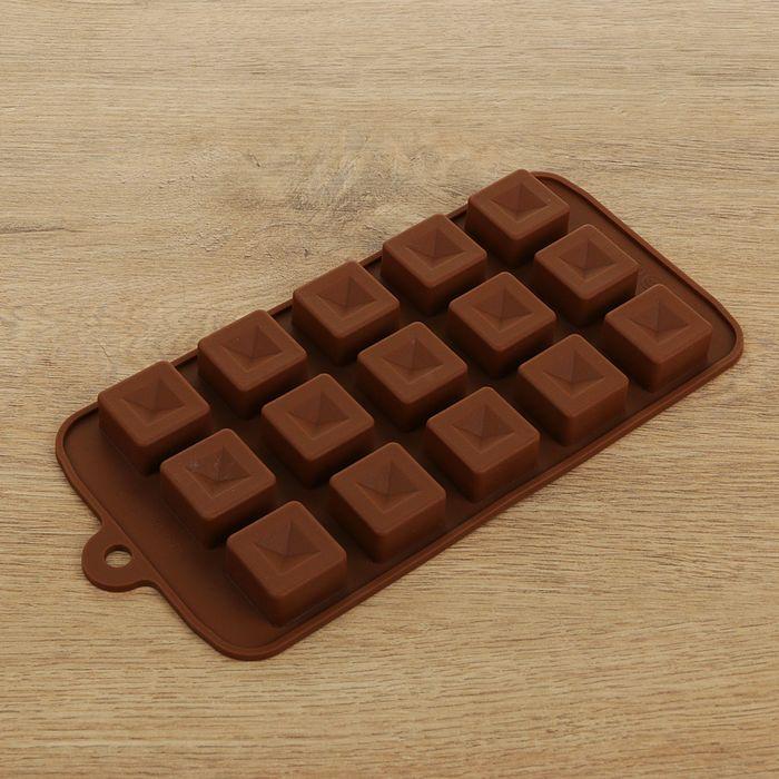 """Форма для льда и шоколада """"Шоколадные кубики"""", 15 ячеек"""