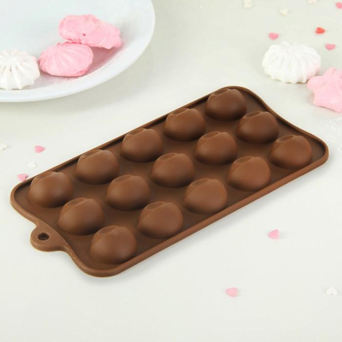 "Форма для льда и шоколада 21х10х2 см ""Завлекалочка"", 15 ячеек, цвет МИКС"