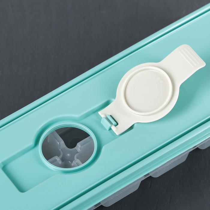 """Форма для льда """"Кубики"""", с крышкой и клапаном, цвет аквамарин"""