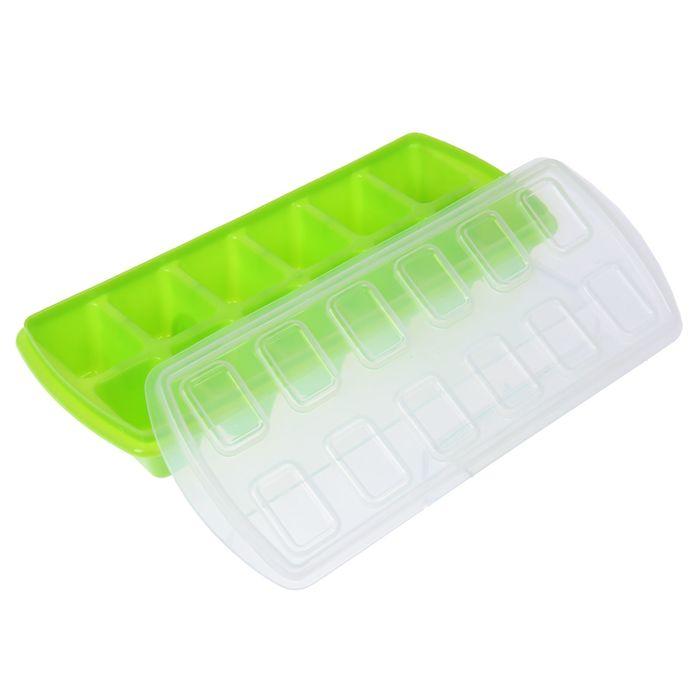 Формочка для льда с крышкой, 12 ячеек, цвет МИКС